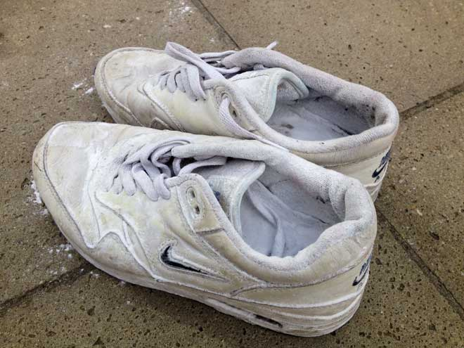Shoes With Baking Soda