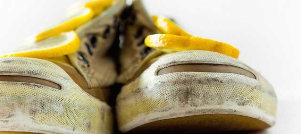 freshen up stinky shoes